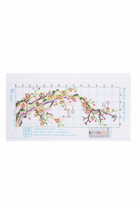 SİMİSSO - Çiçek Baskılı Goblen Seti 0048 20x40
