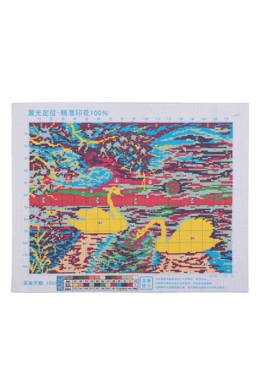 SİMİSSO - Kuğu Baskılı Goblen Seti 1050 59x37
