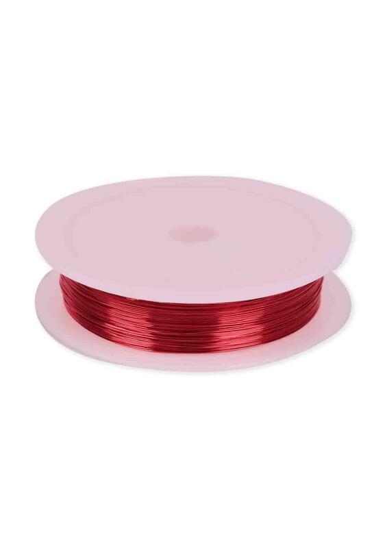 SİMİSSO - Renkli Çelik Tel 3 mm | Kırmızı