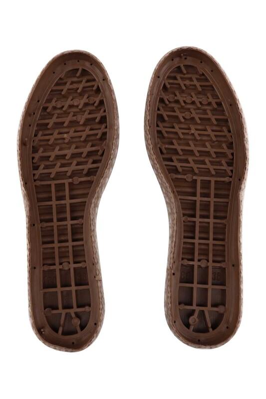 SİMİSSO - Hasır Espadril Ayakkabı Tabanı | Kahverengi
