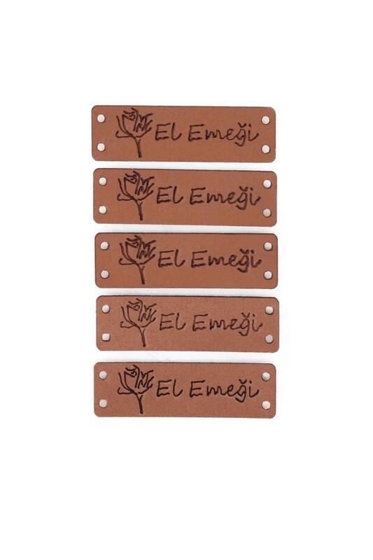 SİMİSSO - Deri Handmade Etiketi 5'li Model 4