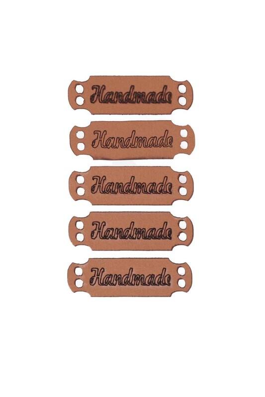 SİMİSSO - Deri Handmade Etiketi 5'li Model 6