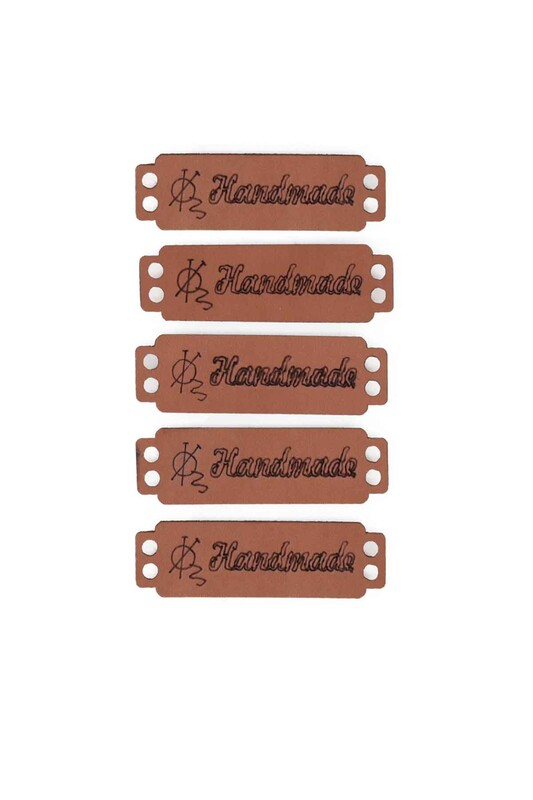 SİMİSSO - Deri Handmade Etiketi 5'li Model 7
