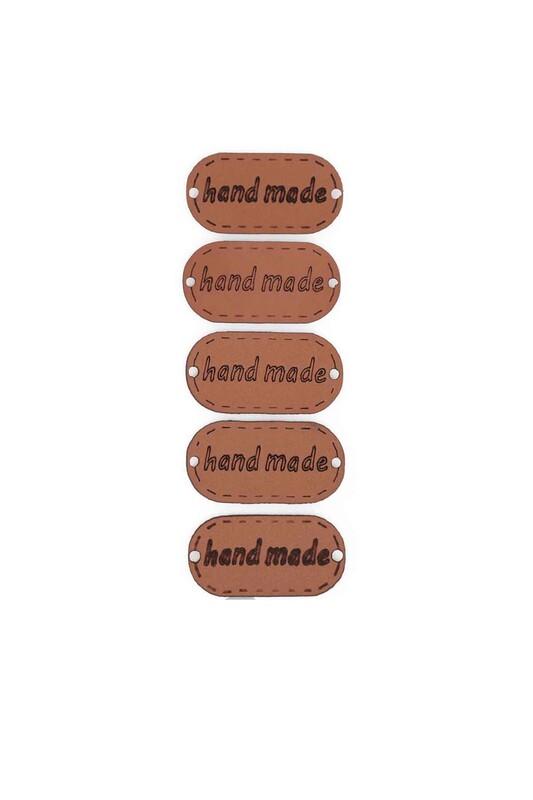 SİMİSSO - Deri Handmade Etiketi 5'li Model 8