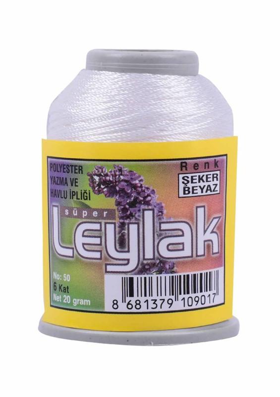 LEYLAK - Leylak Oya ve Dantel İpi 20 gr Şeker Beyaz