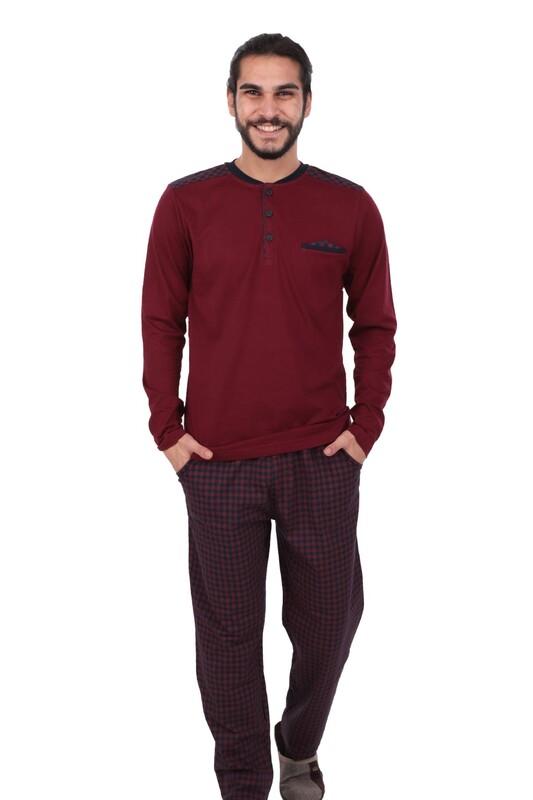 POLEREN - Poleren Pijama Takımı 6043 | Bordo