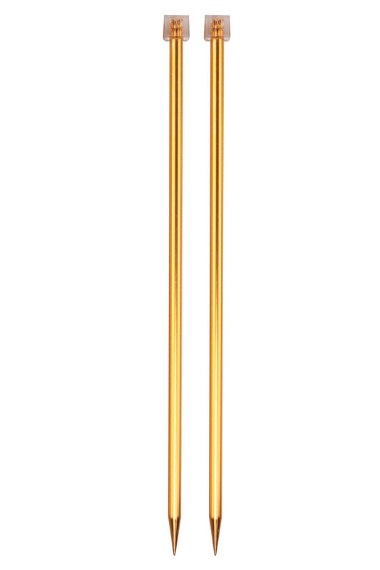 SULTAN - Sultan Renkli Metalik Örgü Şişi 35 Cm 9 mm