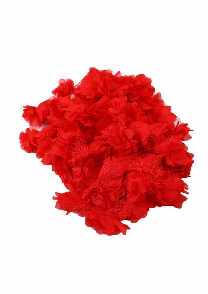 Simisso Lazer Kesim Çiçek 656 | Kırmızı