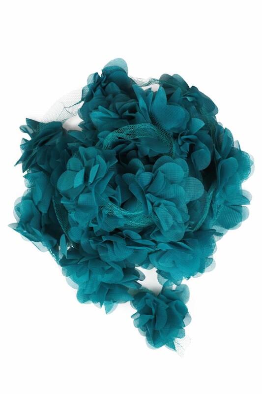 SİMİSSO - Lazer Kesim Şerit Çiçek 125 Petrol Yeşil