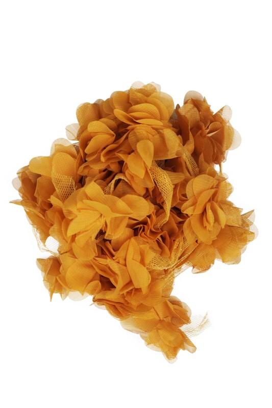 SİMİSSO - Lazer Kesim Şerit Çiçek 191 Hardal
