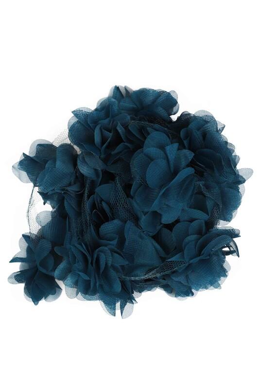 SİMİSSO - Lazer Kesim Şerit Çiçek 198 Petrol Mavi