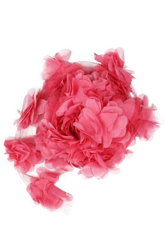 SİMİSSO - Lazer Kesim Şerit Çiçek 52 Nar Çiçeği