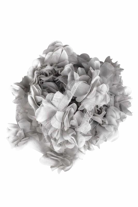 SİMİSSO - Lazer Kesim Şerit Çiçek 205 Gri