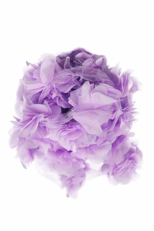SİMİSSO - Lazer Kesim Şerit Çiçek 70 Lila