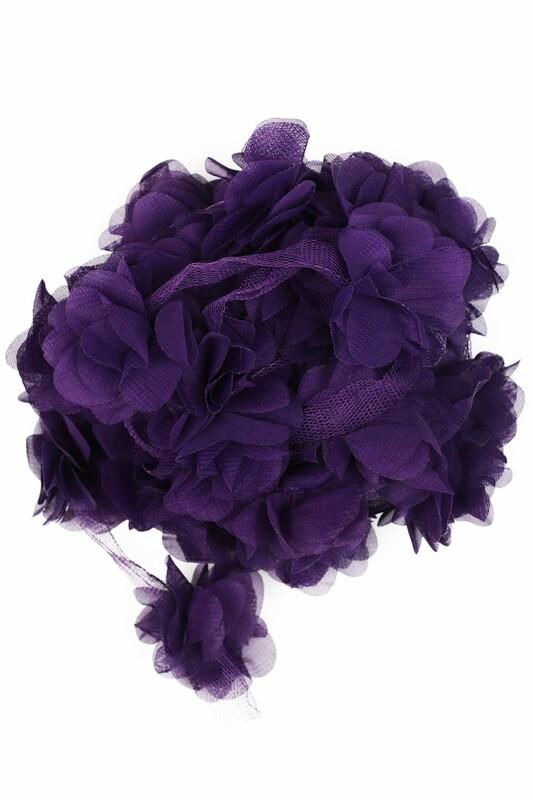 SİMİSSO - Lazer Kesim Şerit Çiçek 775 Mor