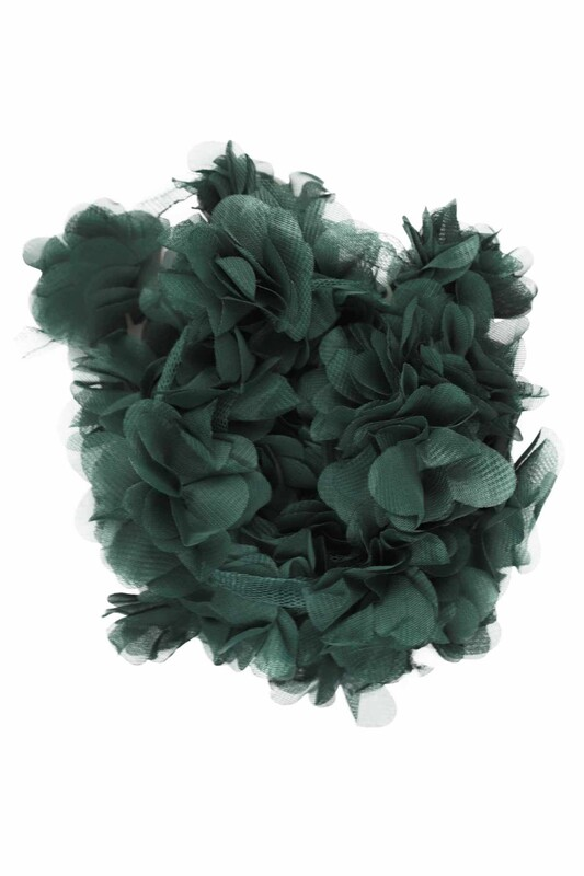SİMİSSO - Lazer Kesim Şerit Çiçek 187 Yeşil