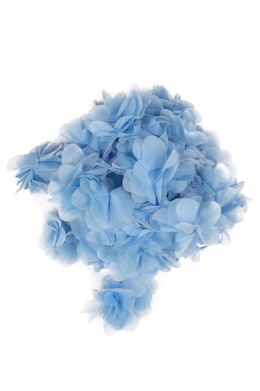 SİMİSSO - Lazer Kesim Şerit Çiçek 145 Mavi