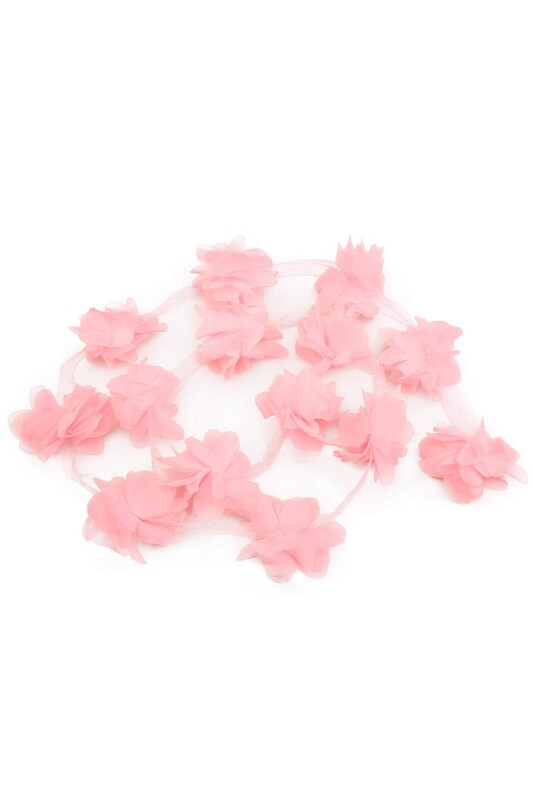 SİMİSSO - Lazer Kesim Şerit Çiçek Pudra 1m