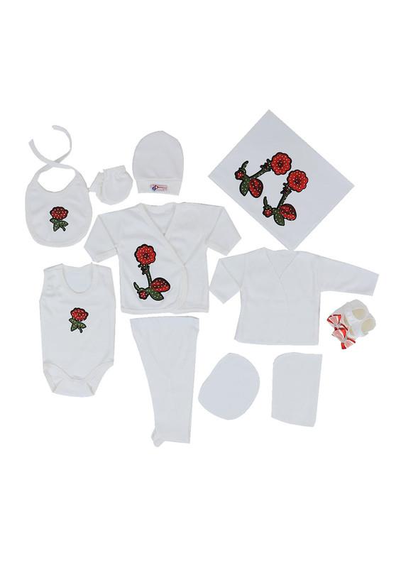 CONCON BABY - Concon Baby Zıbın Seti 678   Beyaz