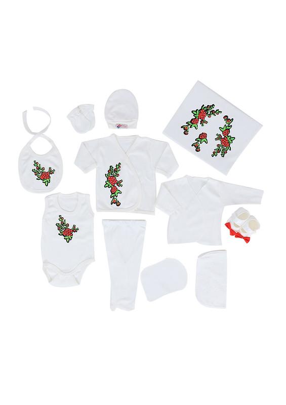 CONCON BABY - Concon Baby Zıbın Seti 677   Beyaz