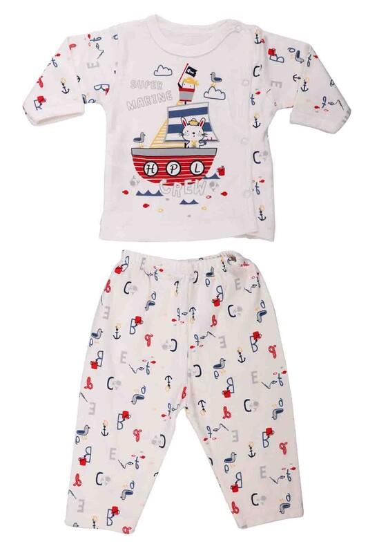 HOPPALA BABY - Hoppala Baby Çapa Desenli Patiksiz Zıbın 2056   Kırmızı