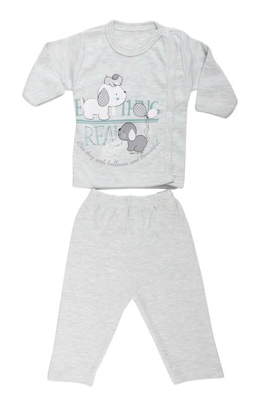 HOPPALA BABY - Hoppala Baby Köpek Baskılı Patiksiz Zıbın Set 2029   Yeşil