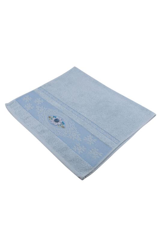 ÖZYİĞİT - Özyiğit İşlemeli Havlu Mavi 50*90